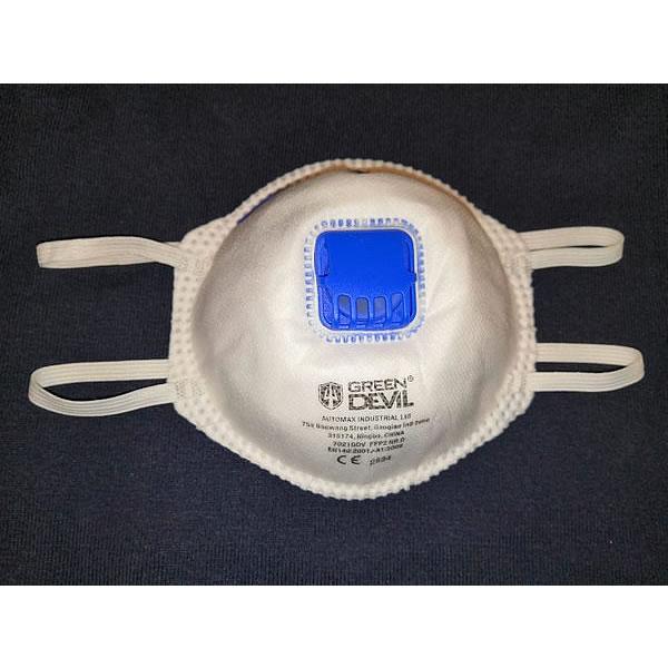 Jednorázová filtrační polomaska třídy FFP2 s ventilem – Respirátor 7021GDV slouží jako ochrana před pevnými i kapalnými částicemi. Je vybaven ventilem.