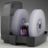 Bazar - BONECO W2055A - jiný pohled na soustavu disků, dobře viditelný je i fialový zásobník na aroma esenci.