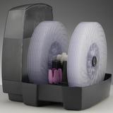 BONECO W2055A - jiný pohled na soustavu disků, dobře viditelný je i fialový zásobník na aroma esenci.