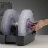 2055D - spodní část aroma zásobníku slouží jako klíč k povolení zajišťovacího dílu na hřídeli disků, pootočením se tento díl uvolní a disky je možno po jednom vyndat z hřídele a jednotlivě vyčistit