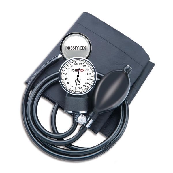 Rossmax GB102 – Aneroidní tonometr Rossmax GB102 je jednoduchý tlakoměr pro měření krevního tlaku auskultační metodou.