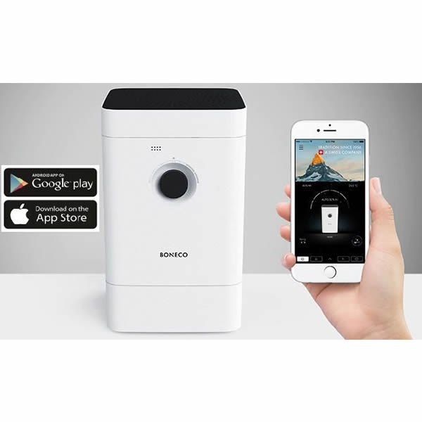 BONECO H300 – Hybridní přístroj Boneco H300 je kombinací moderní smart technologie a komplexní péče o vzduch ve Vaší domácnosti. Ovládejte přístroj telefonem pomocí chytré aplikace Boneco a nastavte si ještě více užitečných funkcí. Zjednodušte si život.