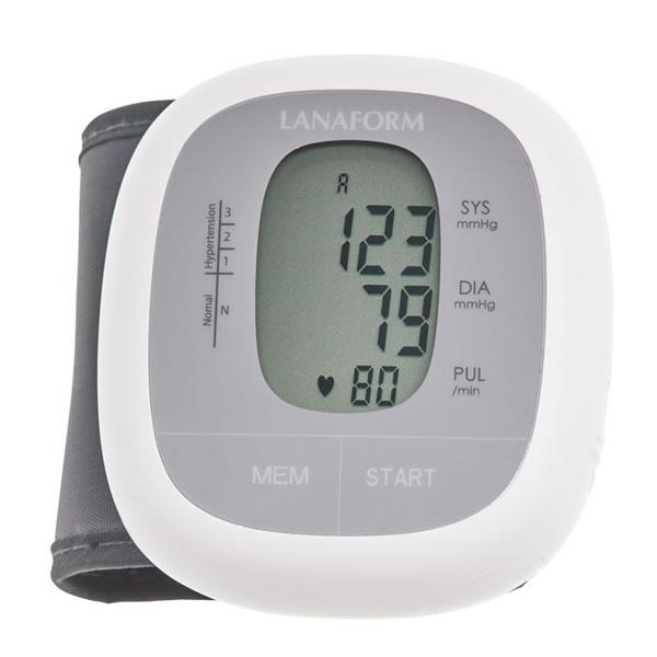 Lanaform WBPM-110 – Automatický zápěsťový tlakoměr s pamětí 2 x 60 záznamů s příjemným a dobře čitelným LCD displejem.