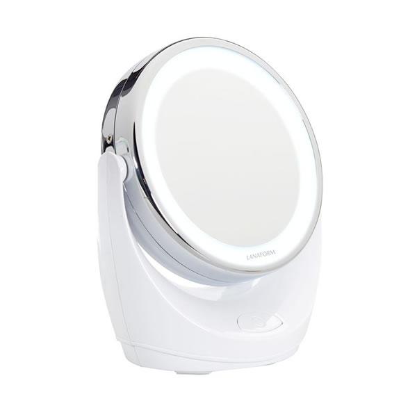 Lanaform LED Mirror – Kosmetické zvětšovací zrcadlo s LED osvětlením a s mimořádnou, 10× zvětšující plochou.