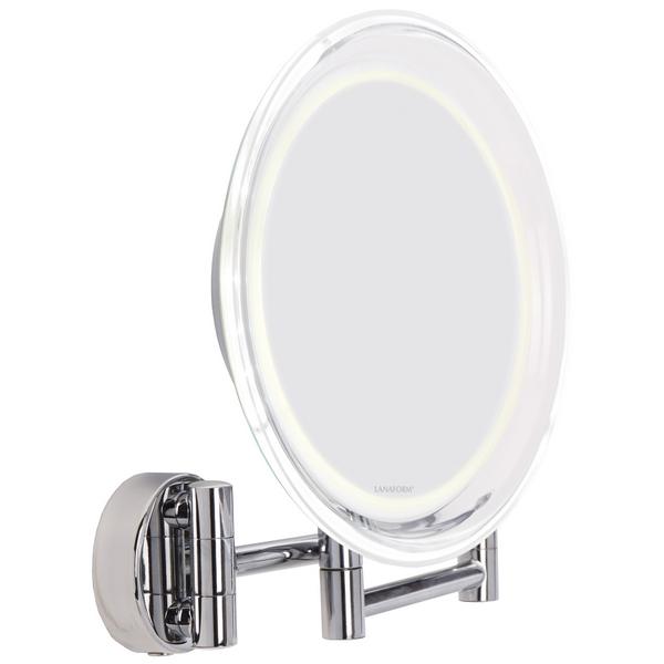 Lanaform Wall Mirror – Kosmetické zrcátko s desetinásobným zvětšením je určené pro přesné a detailní nalíčení.