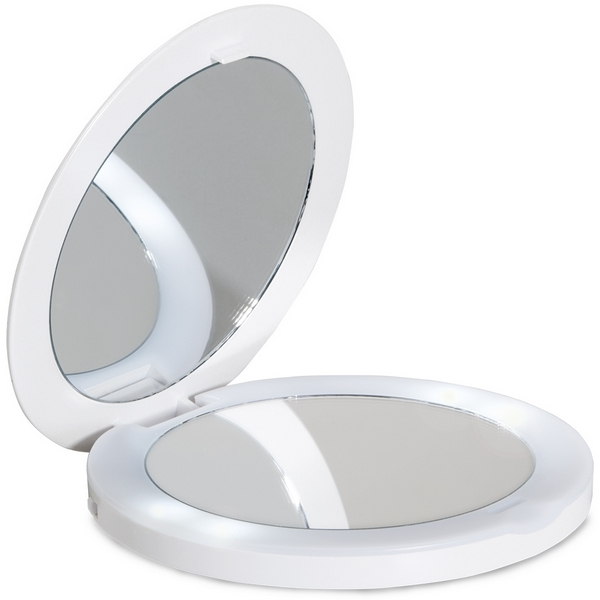 Lanaform Oh Mirror – Kapesní kosmetické zrcátko, které má dvě reflexní plochy a LED osvětlení, je nezbytným doplňkem každé dámské kabelky.