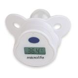 Microlife MT1751 – Digitální teploměr v dudlíku je vhodný pro novorozence a kojence k bezpečnému a bezstresovému měření teploty.
