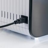 S450 - detail zapojení přístrojového napájecího kabelu. Zásuvka je umístěna na zadní straně zvlhčovače.