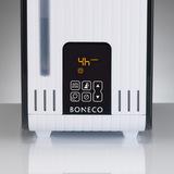 S450 - detail displeje v okamžiku nastavování časovače (nastaven 4-hodinový provoz, svítí ikona časovače)
