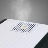 S450 - detail výstupu mlžiny a zásobníku aromatické esence.