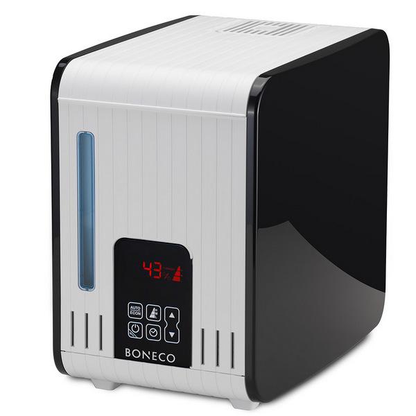 BONECO S450 – Velmi výkonný parní zvlhčovač je vhodný do domácností, kanceláří, škol  a dalších větších prostorů.