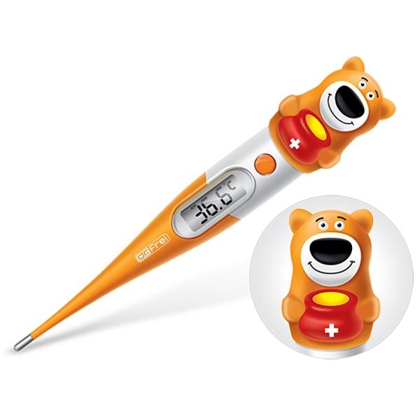 Dr.Frei T-30 – Digitální teploměr v dětském provedení ve tvaru medvídka.