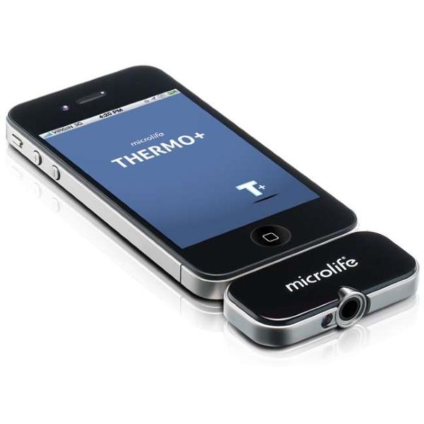 Microlife Thermo+ – Bezkontaktní teploměr pro použití s chytrým telefonem.