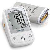 Tlakoměr Microlife BPA2 Basic - celkový pohled na tlakoměr s manžetou. V balení je manžeta pro obvod paže 22 - 42 cm.